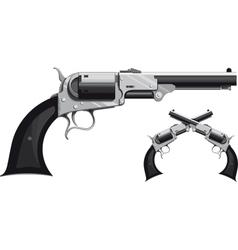 cowboy revolver vector image vector image