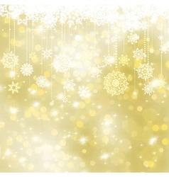 Elegant gold christmas background EPS 8 vector image