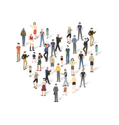 group of people with copyspace vector image