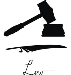 symbols of justice and low vector image