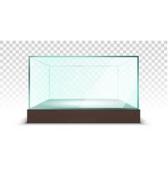 transparent empty glass box showcase vector image