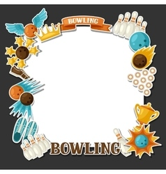 Background with bowling items Image for vector image