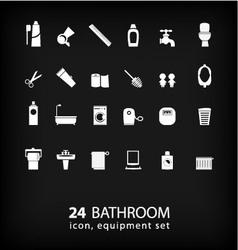 Bathroom equipment set vector image vector image