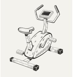 Exercise bike Sport equipment vector image vector image