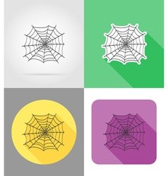 halloween flat icons 01 vector image