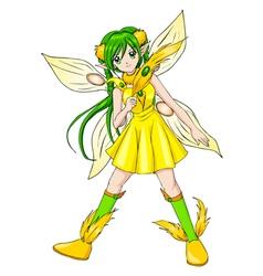 Pixie Yellow vector image vector image