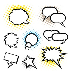 Set of speech bubble vector image vector image