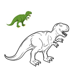 Tyrannosaurus Rex dinosaur coloring book vector image
