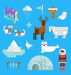 wild north arctic people vector image vector image