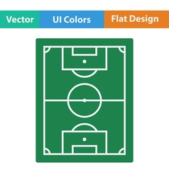 Flat design icon of football field vector image vector image