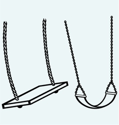 Garden swing hanging vector
