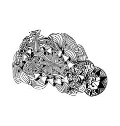 Hand drawn doodle outline magic line art element vector image vector image