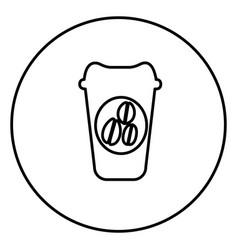 monochrome contour circular frame with disposable vector image