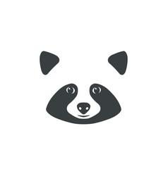 raccoon face raccoon mascot idea for logo vector image