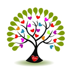Tree of love logo vector image vector image