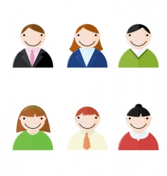 office people icons vector image