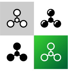 protein icon black and white with variations vector image vector image