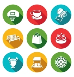 Set of Recreation and Entertainment Icons vector image vector image