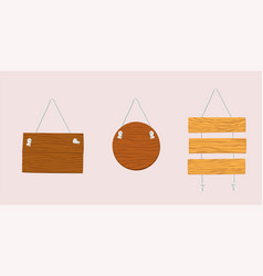wooden plaque hanging on the wall eps 10 vector image