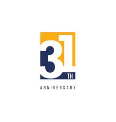 31 th anniversary celebration logo template design vector