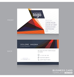 Abstract modern Business cards Design Template vector image