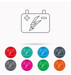 Accumulator icon Electrical battery sign vector image