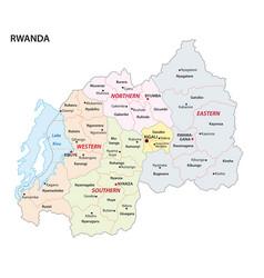 administrative map rwanda vector image