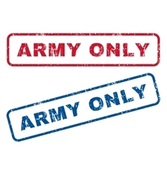 Army Only Rubber Stamps vector