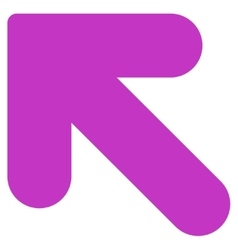 Arrow Up Left flat violet color icon vector