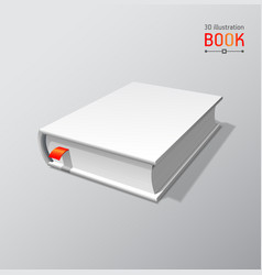 blank book mockup with shadow isolated 3d vector image