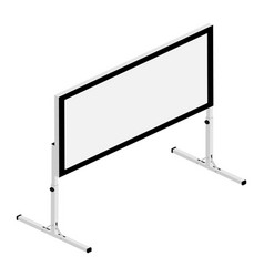 blank white realistic projector screen vector image