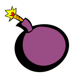 bomb icon icon cartoon vector image