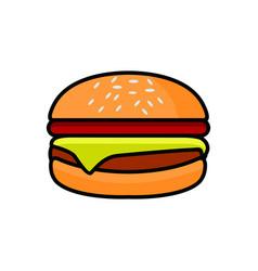 Burger fries logo design vector