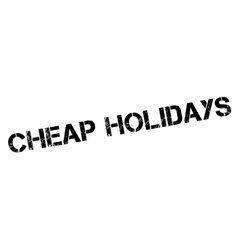 Cheap Holidays rubber stamp vector