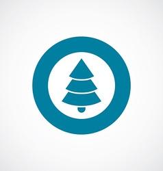 Christmas tree icon bold blue circle border vector image