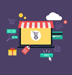 Concept online shopping and e-commerce Icons for vector