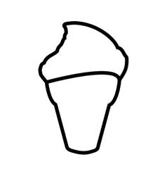 Cone of ice cream icon Dessert and sweet design vector image