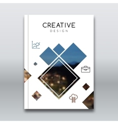 Cover report brochure colorful pilygonal geometric vector