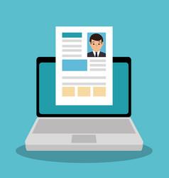 curriculum vitae online icon vector image