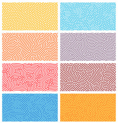 diffusion seamless patterns modern bio organic vector image