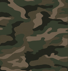 Dot pattern camouflage in green vector
