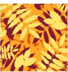floral autumn background design vector image