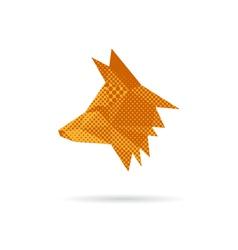 Fox head abstract isolated vector