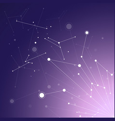 geometric pattern with connected lines and dots vector image
