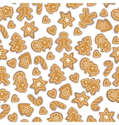 Gingerbreads pattern vector image
