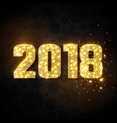 Glitter numeric 2018 vector