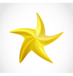 Gold swirl star isolated vector