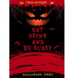 Halloween party poster eat drink and be scary vector