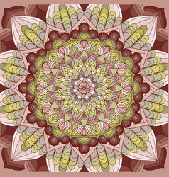 hand drawn mandala background vector image