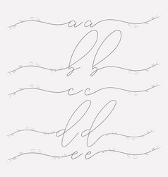 hand lettering floral lowercase monograms vector image
